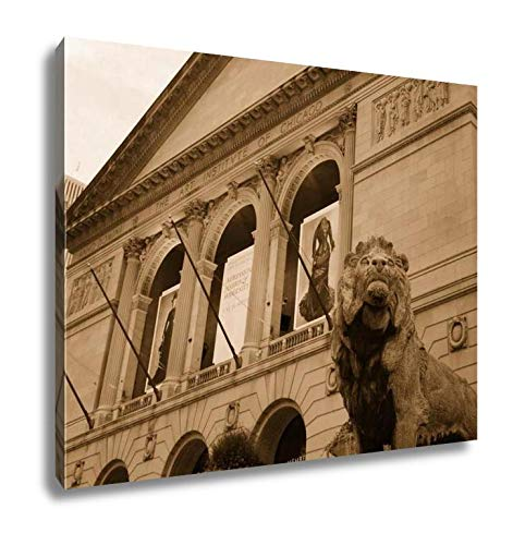 Ashley Canvas Art Institute of Chicago, Wall Art Home Decor, Ready to Hang, Sepia, 16x20, AG5592712