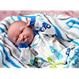 """My Handsome Baby Boy Berenguer Realistic 15"""" Anatomically Correct Real Soft Vinyl Washable Preemie Life Like Reborn Pacifier Doll"""