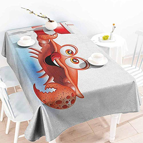 familytaste Crabs,Water Resistant Tablecloth Thirsty Marine Animal with Drink on a Paper Cup with Straw Summertime Theme 70
