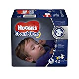 Health & Personal Care : HUGGIES OverNites Diapers, Size 6 for over 35 lbs., Pack of 42 Overnight Baby Diapers