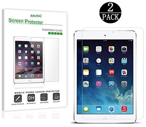 [2-Pack ] iPad 9.7 2017/ iPad Pro 9.7 Inch / iPad Air / iPad Air 2 Screen Protector Glass, RKINC 0.33m 2.5D Round Edge Tempered Glass Screen Protector for Apple iPad Air 2, Air, Pro 9.7 inch 2016