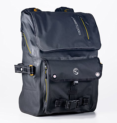 Showers Pass Transit Waterproof Backpack, One Size, Black/Gold