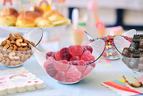 Mini Clear Plastic Party Bowls. Pack Includes 96 Elegant And Disposable Candy Dishes That Are Great For Parties!! -