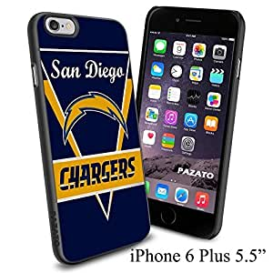 """NFL SAN DIEGO CHARGERS , Cool iPhone 6 Plus (6+ , 5.5"""") Smartphone Case Cover Collector iphone TPU Rubber Case Black"""