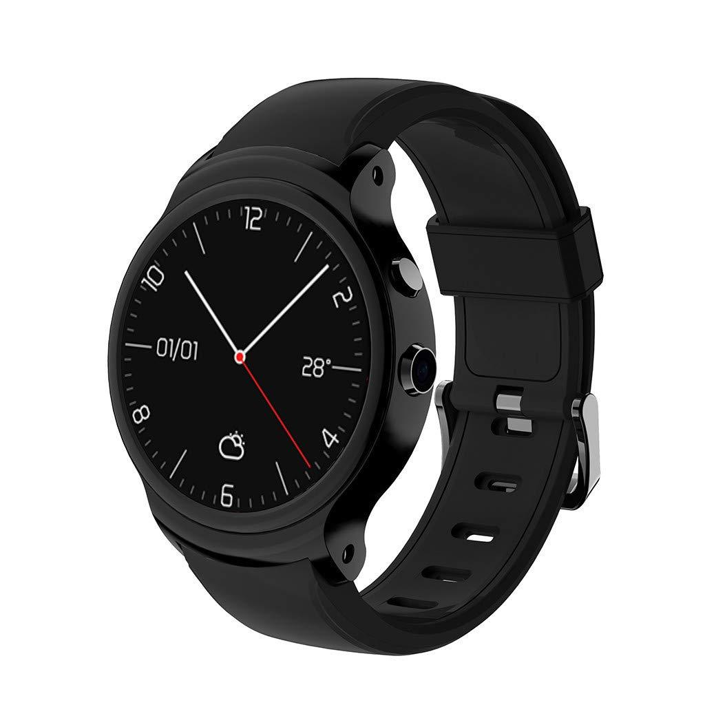 Larmly Smart Watch I3 Smart Watch 1.5 Inch MTK6580A Quad Core 1.3GHZ Android 5.1 3G Smartwatch 500mAh 2.0 Mega Pixel Camera Wrist Watch(black)