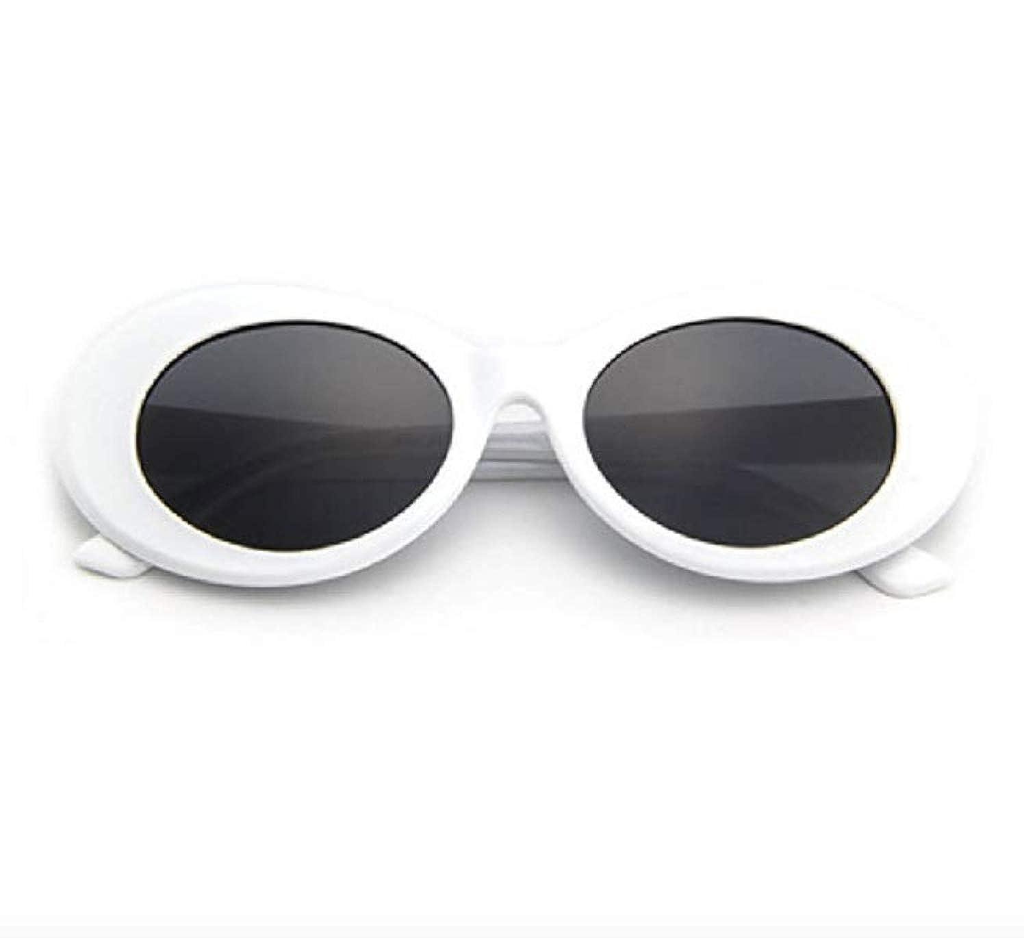 "39dedb5334 Amazon.com  THE ORIGINAL ""Clout Goggles"" 100% Authentic - HypeBeast Supreme  Pure White  Clothing"