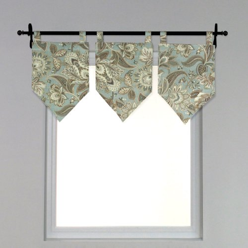 Brite Ideas Living Valdosta Seamist Tab Top Stitched V Valance, 13 by - Valdosta Stores
