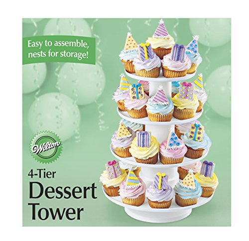 Cupcake Server - Wilton 4-Tier Stacked Cupcake and Dessert Tower