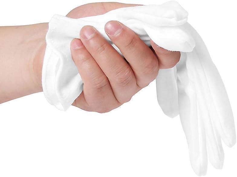 Inspektionshandschuhe,Care Baumwollhandschuhe,Stoff Handschuhe Weiss,Baumwollhandschuhe weiche,Baumwollhandschuhe wei/ß,Cotton Gloves,Wei/ße Handschuhe Baumwolle,Bequem und Atmungsaktiv
