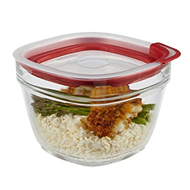 Rubbermaid Easy Find Lid Glass Food Storage Container, 5-1/2 Cup (2856005)