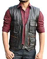 Jurassic World Chris Pratt Brown Leather Vest