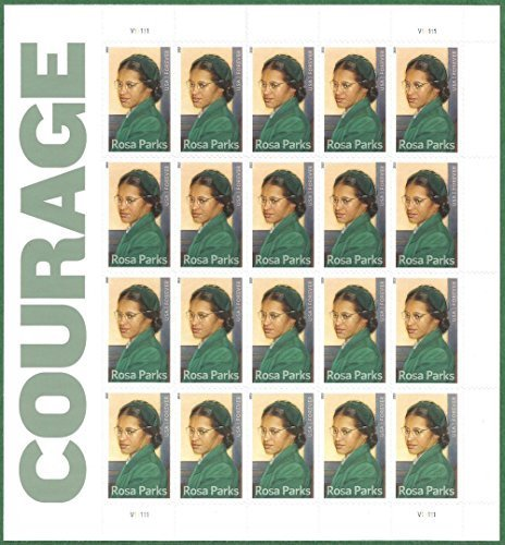 Courage: Rosa Parks Full Sheet of 20 x Forever Stamps, USA 2013, Scott - Usps International Package