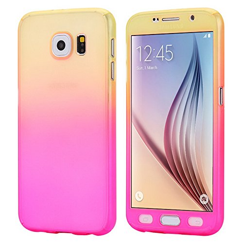 360 Degree Hard Plastic Case for Samsung Galaxy S6 Edge (Gold) - 7