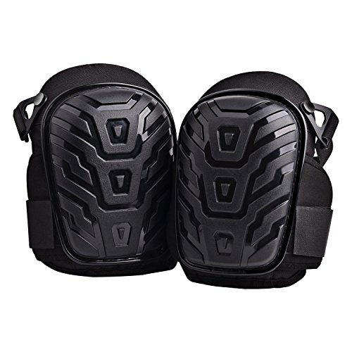 Discount Dudustores Professional Knee Pads with Heavy Duty Gel Cushion and Comfortable Foam Padding, Super Sticky Wide Velcro and Adjustable Clips For Construction, Carpenter, Masonry , Flooring, Gardening free shipping