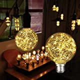 KINGSO G95 Vintage Decorative Bulb,E26 Base 3W 300LM Antique Filament Globe Spiral Design LED Lights for Christmas Home Party Cafes Bars Decoration Warm White