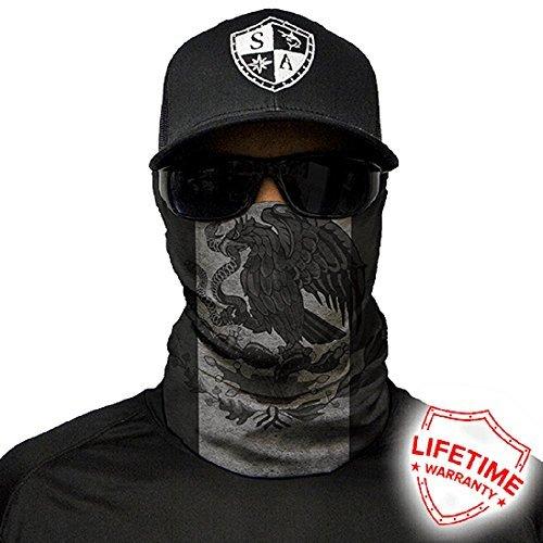 Salt Armour Face Mask Shield Protective Balaclava Bandana Microfiber Tube Neck Warmer (Blackout Mexico (Mexico Mask)