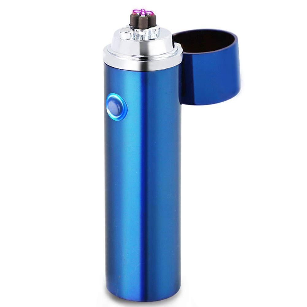 Electric Lighter USB Rechargeable Plasma Arc Lighter Windproof Flameless  Dual Arc Bong Lighter for
