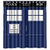 "Winterby Custom Police Box Public Call Waterproof Fabric Bathroom Shower Curtain 66"" x 72"""