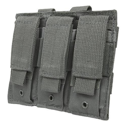 NC Star Triple Pistol Mag Pouch, Urban Gray