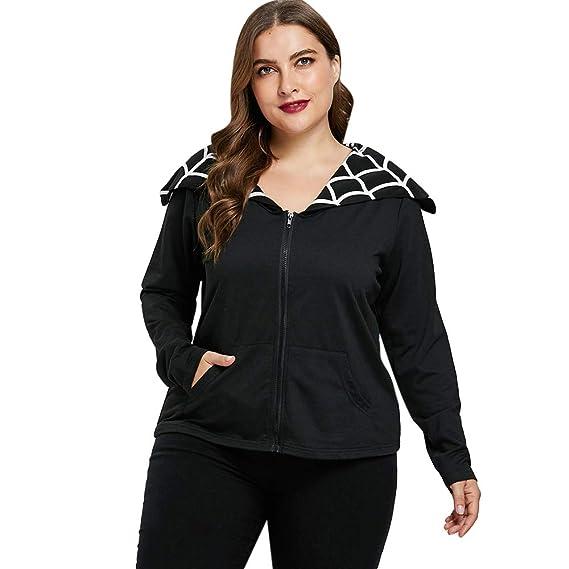 Rosegal Sweat-Shirt Manche Longue Femme Vest de Sport Femme Automne col  Rabattu Jacket Femme Blouse Grande Taille  Amazon.fr  Vêtements et  accessoires 457030723d3