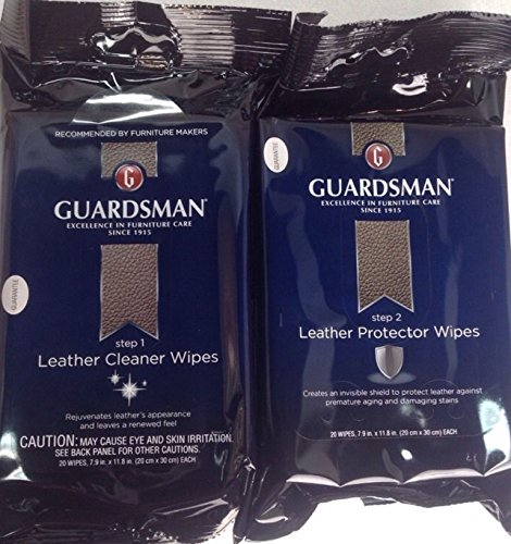 Guardsman Leather Cleaner Protector Wipes