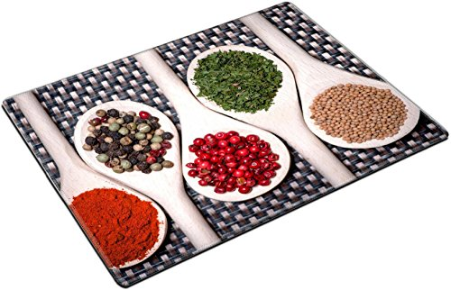 MSD Place Mat Non-Slip Natural Rubber Desk Pads design 22667704 assortment mix of colorful spices with chopped parsley mustard seeds ()
