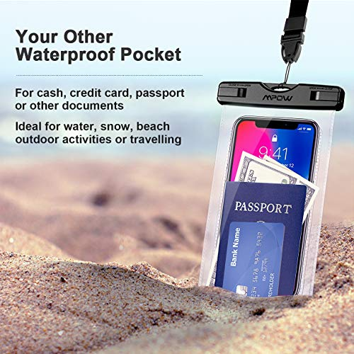 Mpow 097 Universal Waterproof Case, IPX8 Waterproof Phone Pouch Dry Bag...