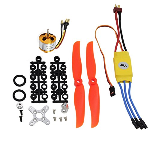 abcGoodefg RC 2200KV Brushless Motor 2212-6+ with 30A ESC Set + Free Mount Accessories Kit Mount for RC Plane Quadcopter Helicopter Aircraft (Rc Plane Parts)