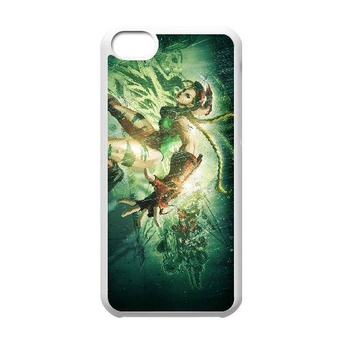 Street Fighter X Tekken 1 coque iPhone 5c cellulaire cas coque de téléphone cas blanche couverture de téléphone portable EEECBCAAN03352