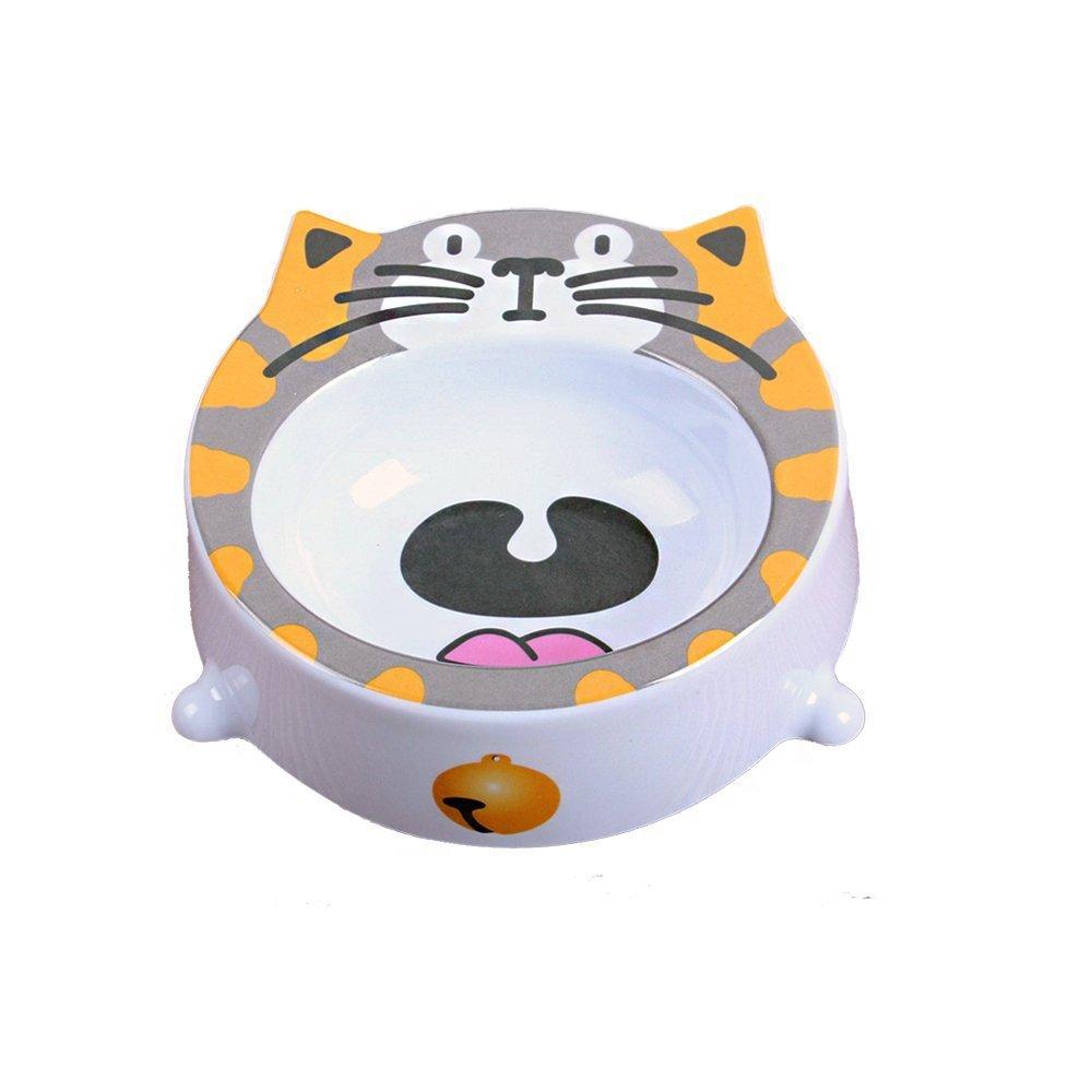 Pet Feeder Tray-Feed Bowl For Cat Bowl Feeder For Doggy Carton Design Round Bowl Melamine Plastics Petdiary