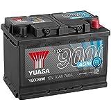 Yuasa YBX9096AGM - Batería de arranque Start Stop Plus (12V, 70A/h, 760A)