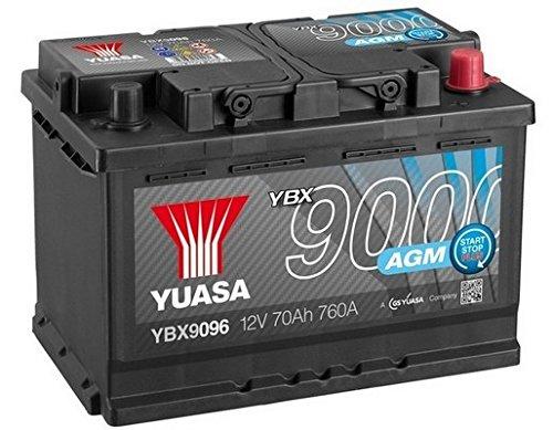 Yuasa YBX9096 AGM Start Stop Plus Battery Yuasa Europe