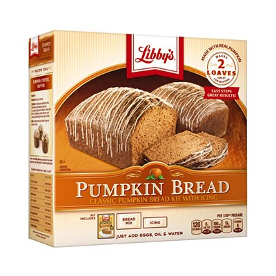- Libby's All Natural 2 Loaves Pumpkin Bread Kit With Icing 56.1oz(Pack of 3)