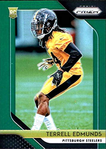 Amazon.com  2018 Panini Prizm Prizm Green  252 Terrell Edmunds Rookie Pittsburgh  Steelers NFL Football Trading Card  Collectibles   Fine Art eab1a6960