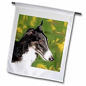 Dogs Borzoi - Borzoi Portrait - 12 x 18 inch Garden Flag (fl_4428_1)
