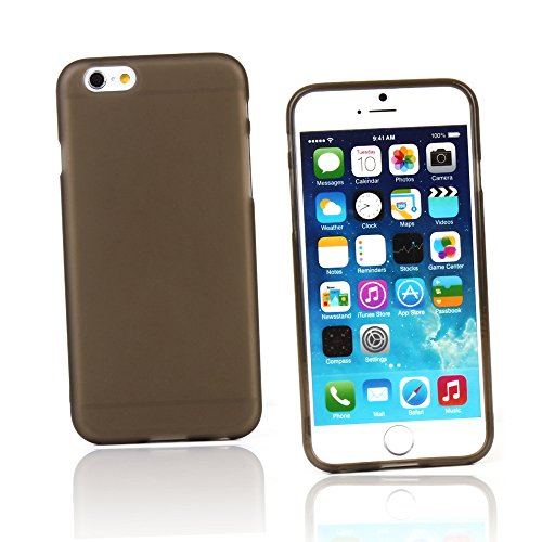 (KMO Apple iPhone 6 / 6S Case Cover [Shock Absorbing] [Thin Fit] Premium Matte Soft TPU Gel Skin Protection - Smoke)
