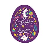 Sunyastor Easter Wall Stickers, Easter Decorations Easter Eggs Bunny Stickers Easter Window Clings Bunny Decals Easter Door Floor Window Decor Home Party Ornaments