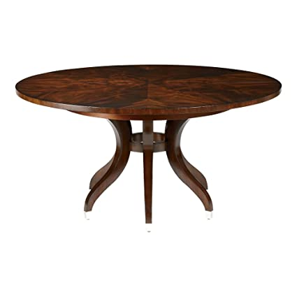 Amazon.com - Ethan Allen Ashcroft Round Formal Dining Table ...