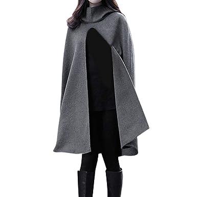 Beikoard Ropa de Mujer Abrigo para Mujer otoño e Invierno Largo Manto Abrigo de Lana: Amazon.es: Ropa y accesorios