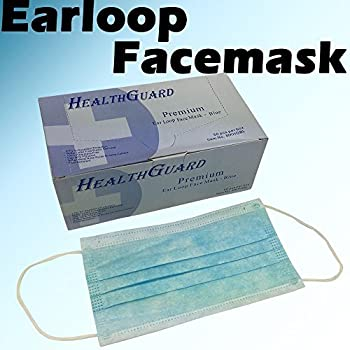 50 PCS 3-Ply Blue Commercial Dental Surgical Medical Disposable Earloop Face Masks | FDA Registered & Approved!