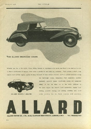 - The Allard Drophead Coupe & Sports 2-seater ad 1948