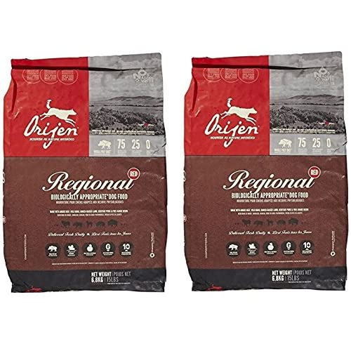 (2 Bags) Orijen Regional Red Dog Food - 15 lb each