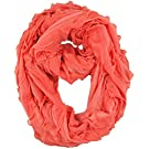 Brooke's Treehouse Infinity Scarf Nursing Cover (Coral Ruffle)