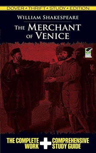 The Merchant of Venice Thrift Study Edition (Dover Thrift Study Edition) (Summary Of The Play Merchant Of Venice)