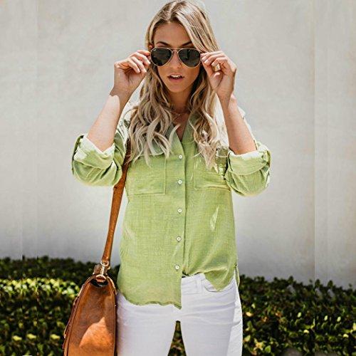 GreatestPAK GreatestPAK Tops Donna Green Tops GreatestPAK Camicia Tops Green Camicia Donna qgRTawOg