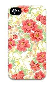 Beautiful Flowers Pattern Sakuraelieechyan Iphone 4/4S Hard Protective 3D Case