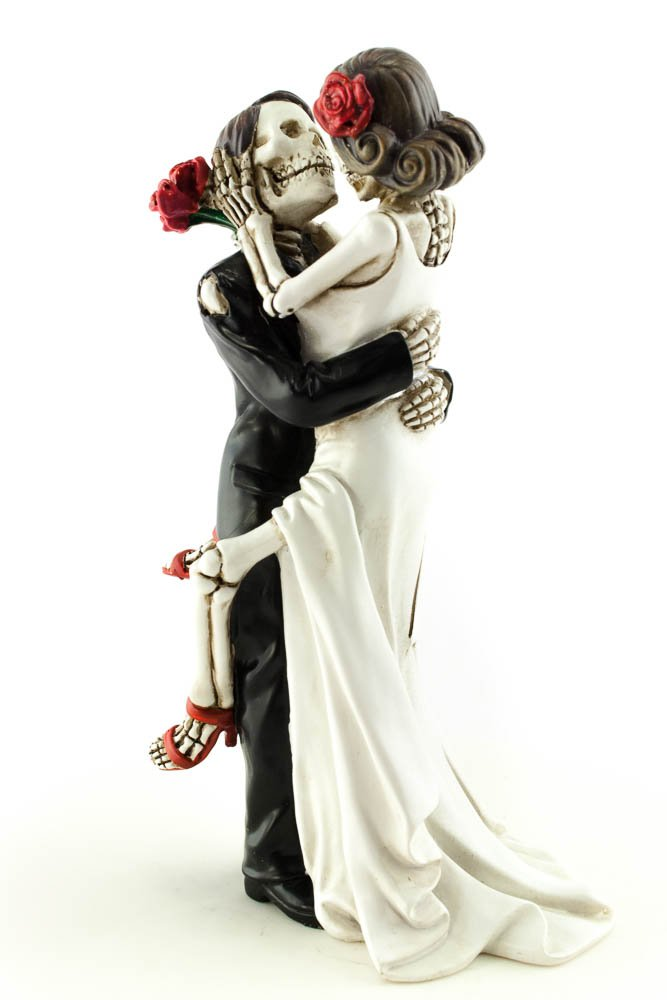 Wedding Collectibles Day of the Dead Sexy Skulls Wedding Cake Topper by Wedding Collectibles (Image #2)
