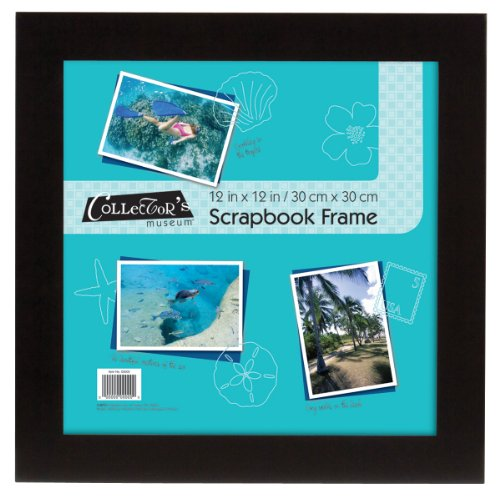 MCS 15x15 Inch Flat Scrapbook Frame with 12x12 Inserts, Black (40952) ()