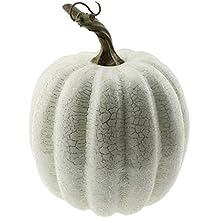 Gresorth 1 PC Halloween Decorative Sliver Line Pumpkin Artificial Fake Vegetable Decoration - White