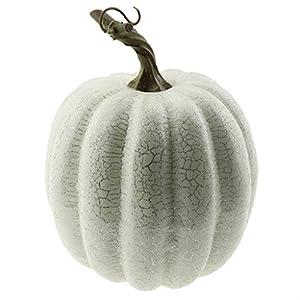 Gresorth 1pc Halloween Decorative Sliver Line Pumpkin Artificial Fake Vegetable Decoration - White 40
